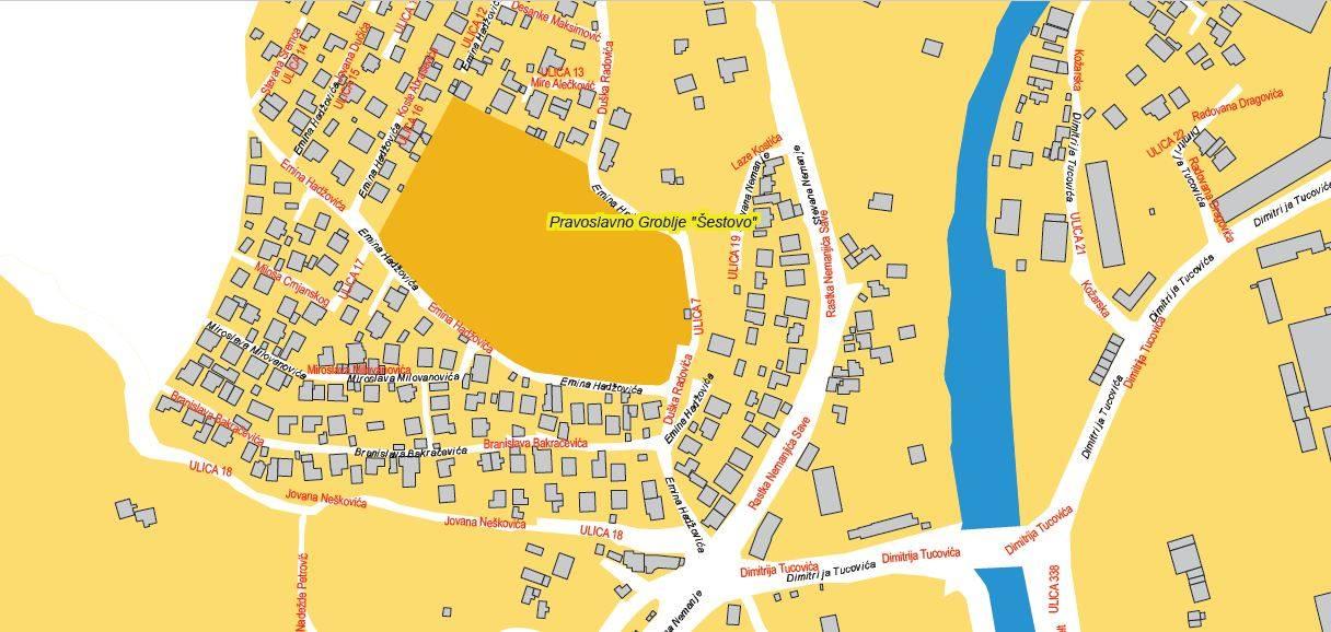 Nađite Se Mapa S Predlozenim Nazivima Ulica U Novom Pazaru Foto